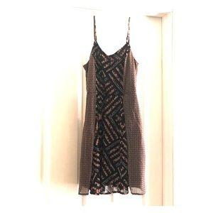 Sun Dress with Spaghetti straps geometric print